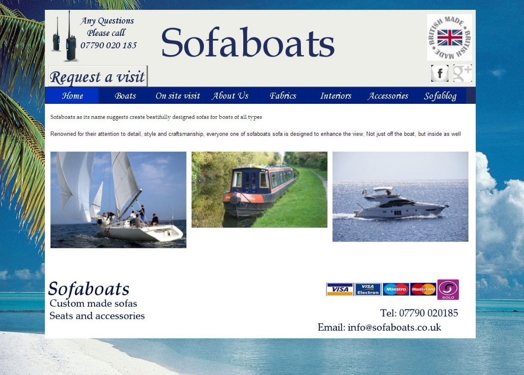 Steinhough reupholstery and repirs also offers bespoke boat furniture